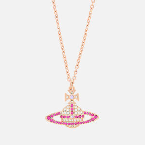 Vivienne Westwood Women's Kika Pendant - Pink Gold Crystal Fuchsia Violet