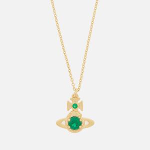 Vivienne Westwood Women's Ouroboros Small Pendant - Gold Emerald