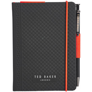 Ted Baker Men's A6 Brogue Geo Notebook & Pen - Black