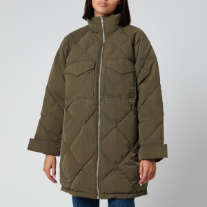 Levi's Women's Diamond Quilt Puffer Jacket - Olive Night