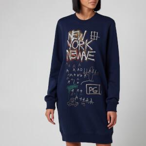 Coach X Jean Michel Basquiat Women's Untitled 1980 Crew Dress - Navy - L