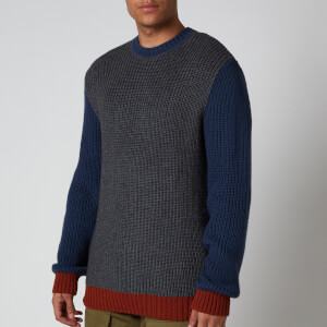 Edwin Men's Line Sweatshirt - Grey Heather/Vintage Blue /Auburn