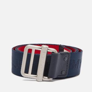 Tommy Jeans Men's Logo Webbing Belt - Corporate
