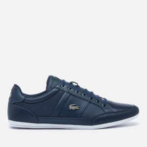Lacoste Men's Chaymon Bl 1 Leather Low Profile Trainers - Navy/White
