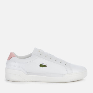 Lacoste Women's Challenge 0120 1 Leather Twin Cupsole Trainers - White/Light Pink