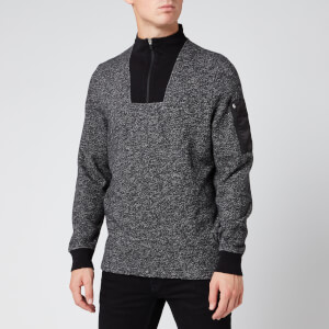 Barbour International Men's Bal Half Zip Sweatshirt - Grey Marl