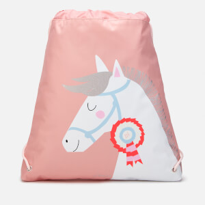 Joules Kids' Active Drawstring Bag - Pink Horse