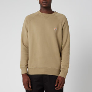Maison Kitsuné Men's Fox Head Patch Sweatshirt - Light Khaki