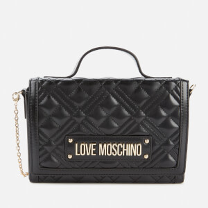 Love Moschino Women's Quilted Top Handle Bag - Black