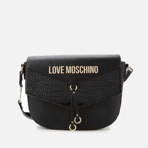Love Moschino Women's Moc Croc Shoulder Bag - Black