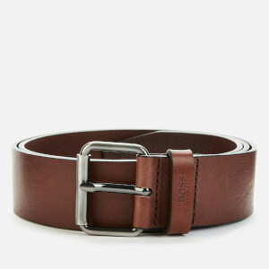BOSS Men's Serge Leather Belt - Dark Brown