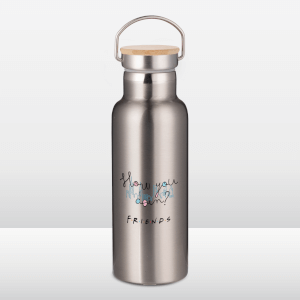 Friends How You Doin Portable Insulated Water Bottle - Steel