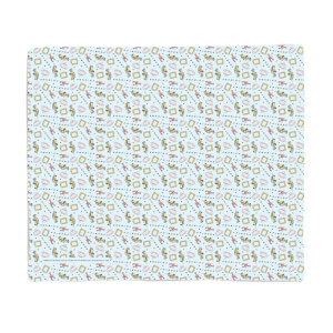 Friends Cool Tone Pattern Fleece Blanket