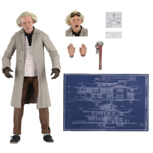 "NECA Back to the Future 7"" Scale Action Figure Ultimate Doc Brown"