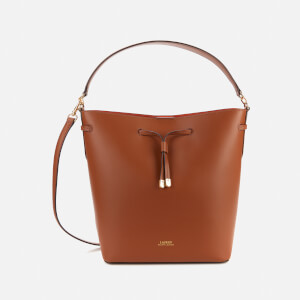 Lauren Ralph Lauren Women's Debby Medium Drawstring Bag - Lauren Tan/Monarch Orange