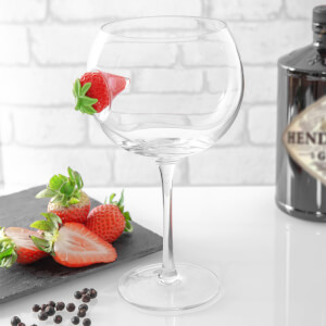 Ice & Slice Balloon Copa Glass - Strawberry
