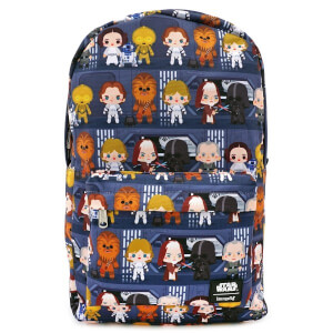 Loungefly Star Wars Chibi Nylon Backpack