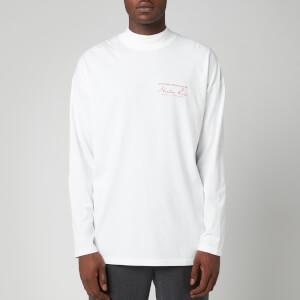 Martine Rose Men's Jersey Funnel Neck Long Sleeve T-Shirt - White