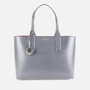 Emporio Armani Women's Logo Tote Bag - Anthracite/Grape