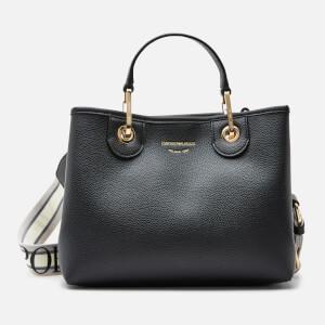 Emporio Armani Women's Medium Tote Bag - Black/Silver