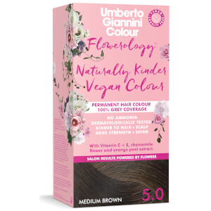 Umberto Giannini Flowerology Naturally Kinder Colour - Medium Brown 5.0 195ml