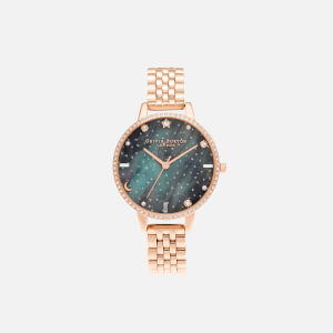 Olivia Burton Women's Celestial Northern Lights Demi Dial Bracelet Watch - Rose Gold
