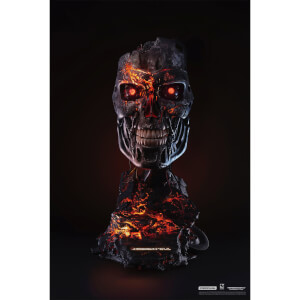PureArts Terminator T-800 Battle Damaged 1:1 Scale Art Mask - Limited to 2029 Pieces Worldwide