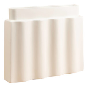 Los Objetos Decorativos Waves Vase - White