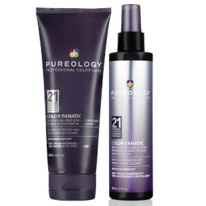 Pureology Colour Fanatic Treatment and Leave-in Spray Set