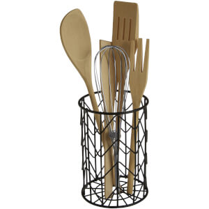 Vertex Round Utensil Holder - Black