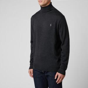 Polo Ralph Lauren Men's Merino Wool Turtleneck Jumper - Dark Granite Heather