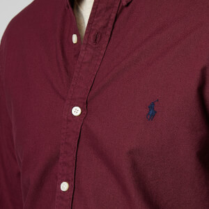 Polo Ralph Lauren Men's Oxford Sport Shirt - Classic Wine