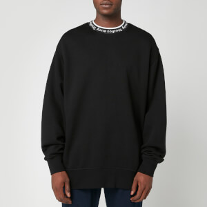 Acne Studios Men's Logo Rib Sweatshirt - Black