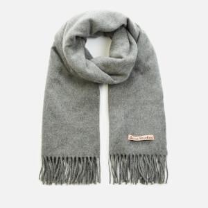 Acne Studios Canada New Oversized Wool Scarf - Grey Melange