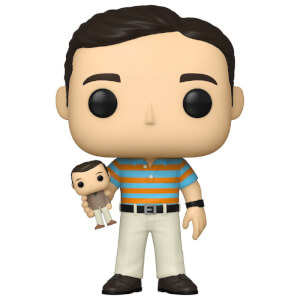 40 Year Old Virgin Andy holding Oscar with Chase Funko Pop! Vinyl