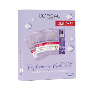 L'Oreal Paris Replumping Tissue Mask Set (Worth £15.00)