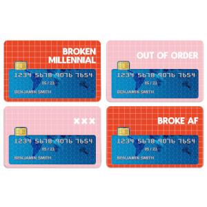Broken Millennial Credit Card Covers