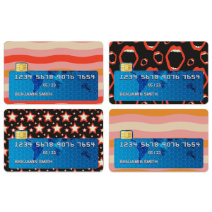 Stars And Lips Credit Card Covers