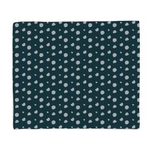 Hermione Chantal Navy Polka Dots Fleece Blanket