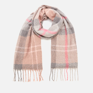 Barbour Casual Women's Tartan Boucle Scarf - Taupe/Pink