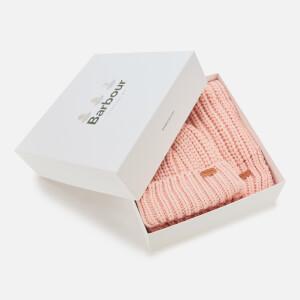 Barbour Causal Women's Saltburn Beanie & Scarf Set - Pink