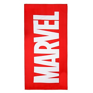 Marvel Logo Microfiber Beach Towel - Red