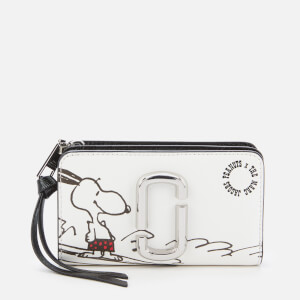 Marc Jacobs Women's Snapshot Peanuts Americana Compact Wallet - White Multi