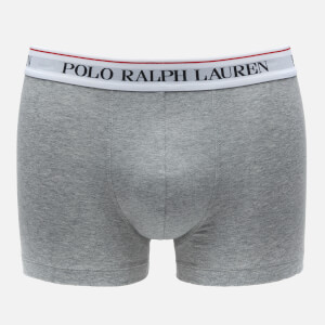 Polo Ralph Lauren Men's Stretch Cotton 3 Pack Trunks - Black/Windsor Heather/Heather