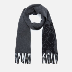 Polo Ralph Lauren Men's Big Pony Jacquard Scarf - Polo Black/Grey