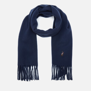 Polo Ralph Lauren Men's Virgin Wool Scarf - Cruise Navy