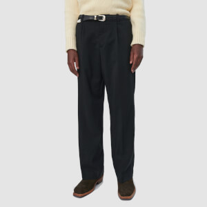 Our Legacy Men's Borrowed Coarse Wool Chinos - Black