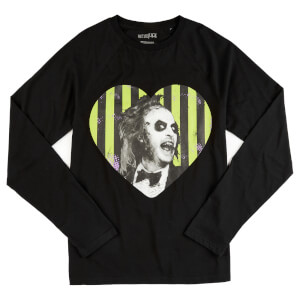 Beetlejuice I Heart Beetlejuice Unisex Long Sleeved T-Shirt - Black