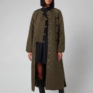 Ganni Women's Recycled Ripstop Quilt Coat - Kalamata