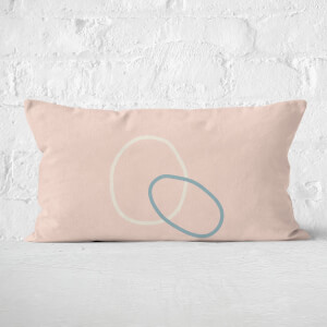 Circle Outline Rectangular Cushion